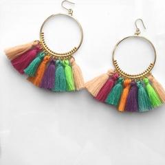 Multi coloured tassel hoops