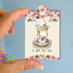 Printable Tea Bag Gift - Friendship Mini Tags - Tea Bag Gift Tags