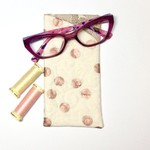 Rose Gold Dots Fabric Glasses/Sunnies Case