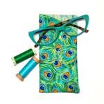 Peacock Fabric Glasses/Sunnies Case
