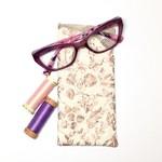 Rose Gold Fabric Glasses/Sunnies Case