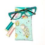 Owl Fabric Glasses/Sunnies Case