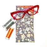 Grey Floral Fabric Glasses/Sunnies Case