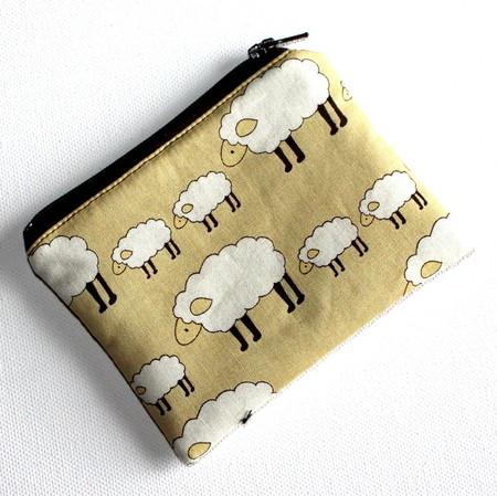 Little Coin Purse in Sheep Fabric