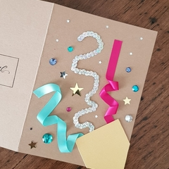 Hand-made birthday card customisable to any age