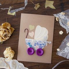 Hand-made baby card