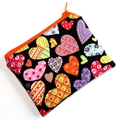 Little Coin Purse in Colourful Loveheart Fabric