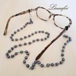Spectacle Holder - Sunglass Holder - Reading Glass Holder - Pearl - Black -NS072