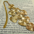 Golden Heart Bookmark, Metal Bookmark