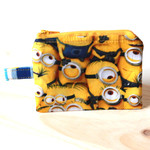 Zip Pouch in Minions fabric