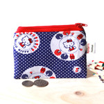 Zip pouch with Hello Kitty fabric
