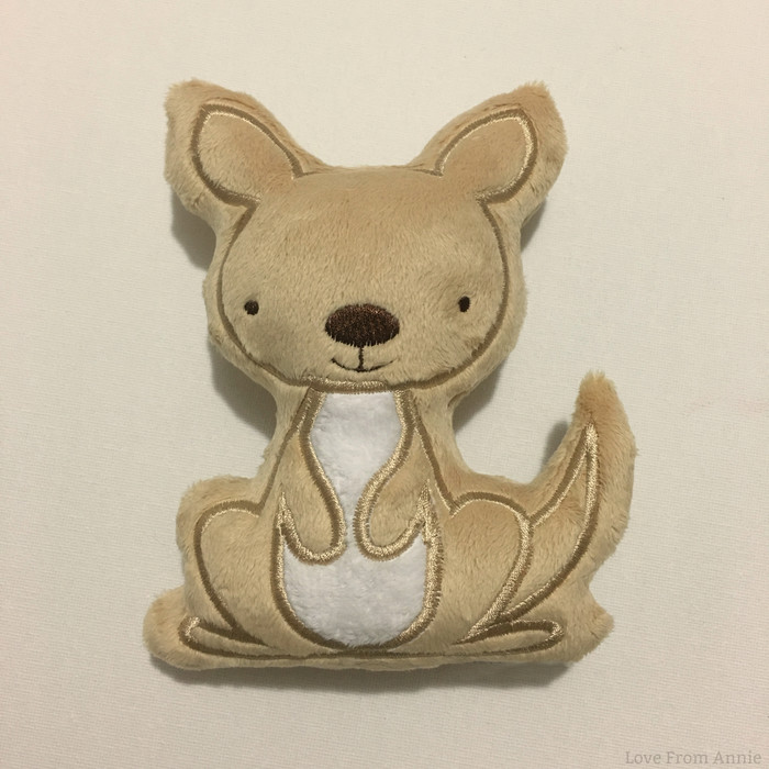 Free Postage Baby Kangaroo Joey Rattle Light Brown and White