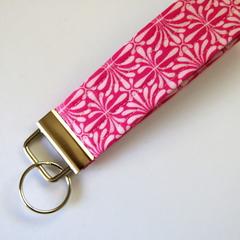 Wrist Key Fob / Keyring - Pink