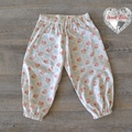 Harem Pants - Pink and Blue Floral - Size 1 - 18 Months