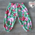 Harem Pants - Pink and Green floral - Size 0 - 12 Months