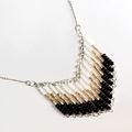 A Touch of Gold Beaded Contemporary Geometric Necklace
