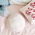 Arlo Round Cushion Cover – screen print, symmetry, circle, linen