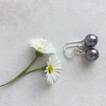 Silver Shell Pearl & Sterling Silver Earrings