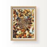 "ART Print: Autumn Swirls, Abstract Art Print - 12"" by 16"""