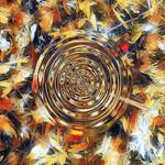 Digital Download, Abstract Art Image, Autumn Swirls - Modern Decor Art