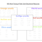 100 Word Flashcards & Tracing Pack