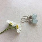 Ice Blue Brazilian Aquamarine Gemstone Drop Earrings, Mother's Day, Gift