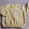 SIZE 5 - Hand knitted jumper Yellow by CuddleCorner