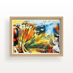"""ART Print: Reeds by the Stream, Abstract Art Print - 12"""" by 16"""""""