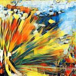 Digital Download, Abstract Art Image, Reeds by the Stream - Modern Decor Art