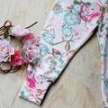 Pastel floral baby girl leggings