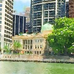 Watercolour Print - Customs House - Brisbane