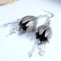 Silver bells - flower earrings
