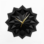 Black origami wall clock - ELLA