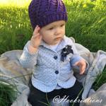 Angel Scroll Beanie Crochet Pattern - Baby