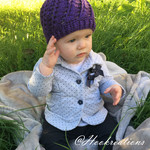 Angel Scroll Beanie Crochet Pattern - Toddler/ Child