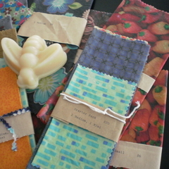 TASMANIAN BEESWAX WRAPS ~ PACK OF 4
