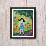 Summer Days ~ A5 Fine Art Giclee Print | Quirky Nursery Decor | Home Wall Decor