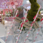 30 Drink Me Tags ~ Straw Toppers ~ Alice in Wonderland Themed ~ Weddings