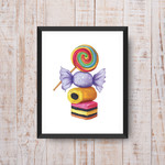 Sweets ~ A5 Fine Art Giclee Print | Quirky Nursery Decor | Home Decor Wall Art