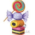 Sweets ~ Printable Illustration | A3, A4, A5 included | Kids and Nursery Decor