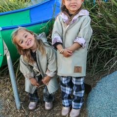Girls Coat, Unisex Jacket, Fully Lined Australian MOLESKIN Coat.Size 1
