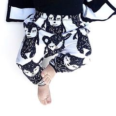 Monochrome slim harem pants, baby boy girl toddlers