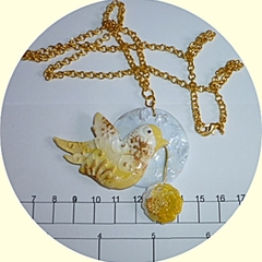 Yellow bird pendant