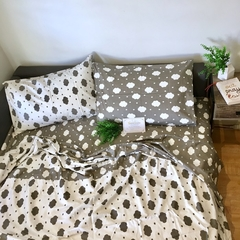 Handmade Double Bed Sets Pillowcases, Quilt/Donna Cover, Fitted sheet 100%Cotton