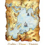 A4 Map Illustration | Fine Art Giclee Print | Explore Dream Discover | Whimsical