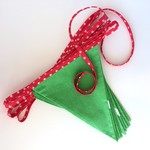 Flag bunting green red and white