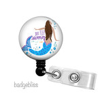 Mermaid retractable badge reel