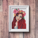 Flora's Secret ~ A4 Fine Art Giclee Print | Redhead Feminine Woman | Home Decor