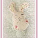 Pink Bunny, Handcrafted Rabbit, Gift Idea Bunny, Gift, Special Occasion