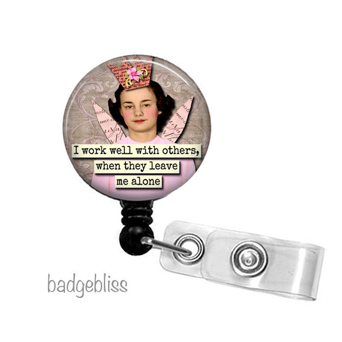 Funny retractable badge reel | Badge Bliss on Madeit